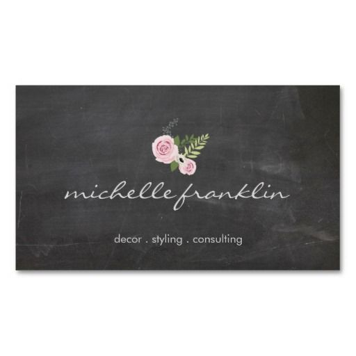 26 best artists and crafters business cards images on pinterest cute and stylish business card with a chalkboard aesthetic perfect for stylists artists reheart Image collections