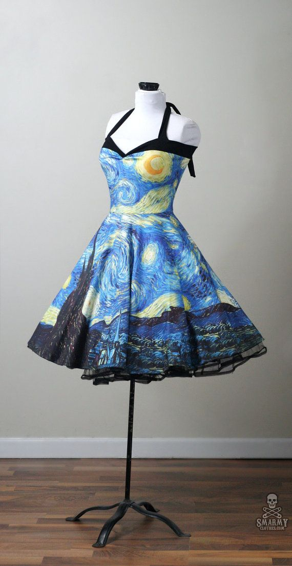 STARRY NIGHT Van Gogh swing dress custom by smarmyclothes
