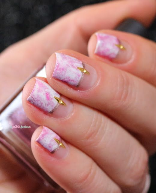 Paint All The Nails Presents Marble - pink marble nail art