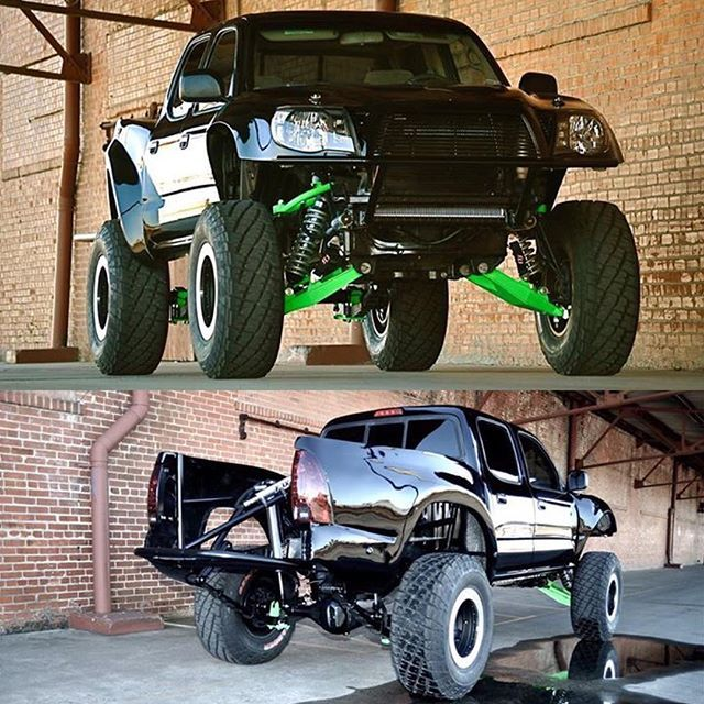 One sharp looking Tacoma! Tag your Toyota friends!  2014 Toyota Pre Runner long travel Baja - built by Joshua Steele at Nevrslo Motorsports.  #FlexRocksRollovers #Toyota #tacoma #prerunner #PickUp #Yota #rockcrawer