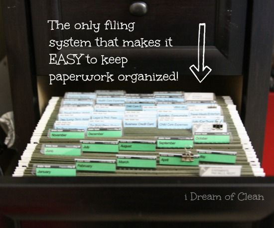 Finally a filing system that makes sense to me! Love how this keeps paperwork organized!