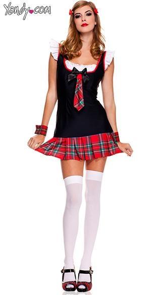 Plus velikost kostuma za sladko šolo, seksi kostumi za dekle-8503
