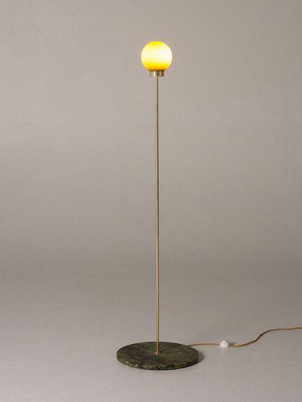 PARE Floor Lamp 01 - Bronze Green Glass - ON