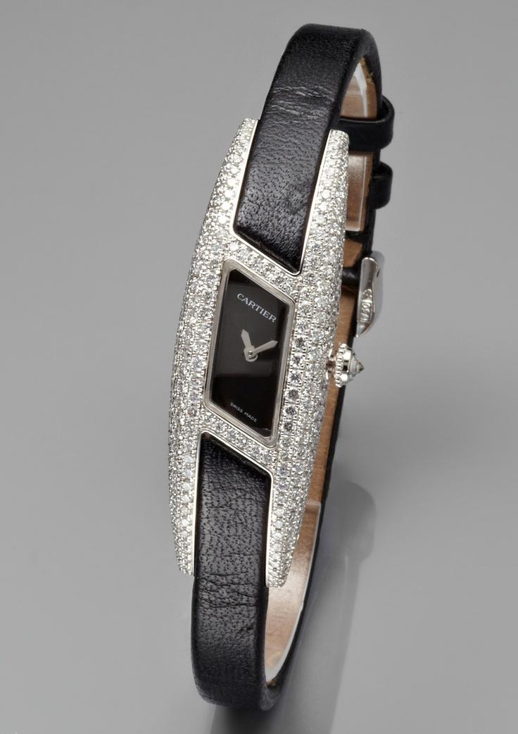 ideeli   CARTIER Ladies Himalia Diamond Accent Watch