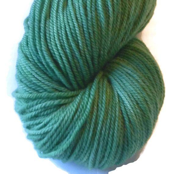 Green Superwash Merino Yarn - Green Hand Dyed Yarn - Green DK Weight Merino Yarn - Green Double Knit 3 Ply Yarn - Green Hand Dyed DK Weight
