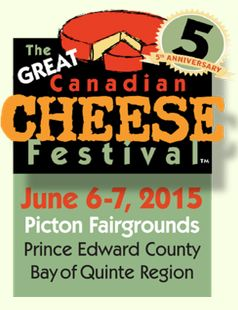 Events in Quinte this weekend, June 6th & 7th- The Great Canadian Cheese Festival! Taste the deliciousness! Families are welcome, with children 15 and younger admitted FREE when accompanied by an adult.