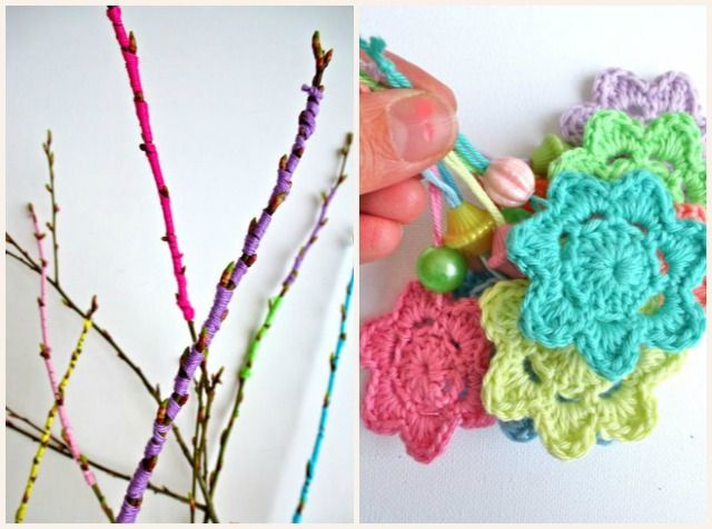 My Rose Valley: Easter twig yarn love
