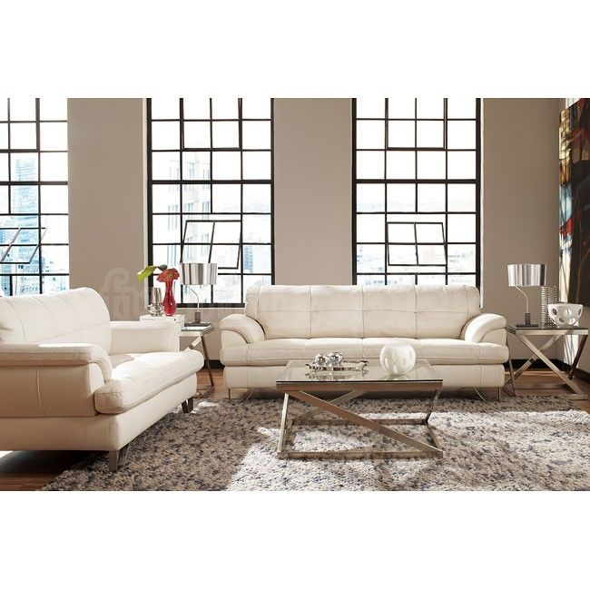 Gunter Brilliant White Living Room Set