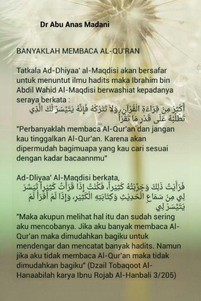Hikmah....perbanyakkanlah membaca al quran..semasa menuntut ilmu