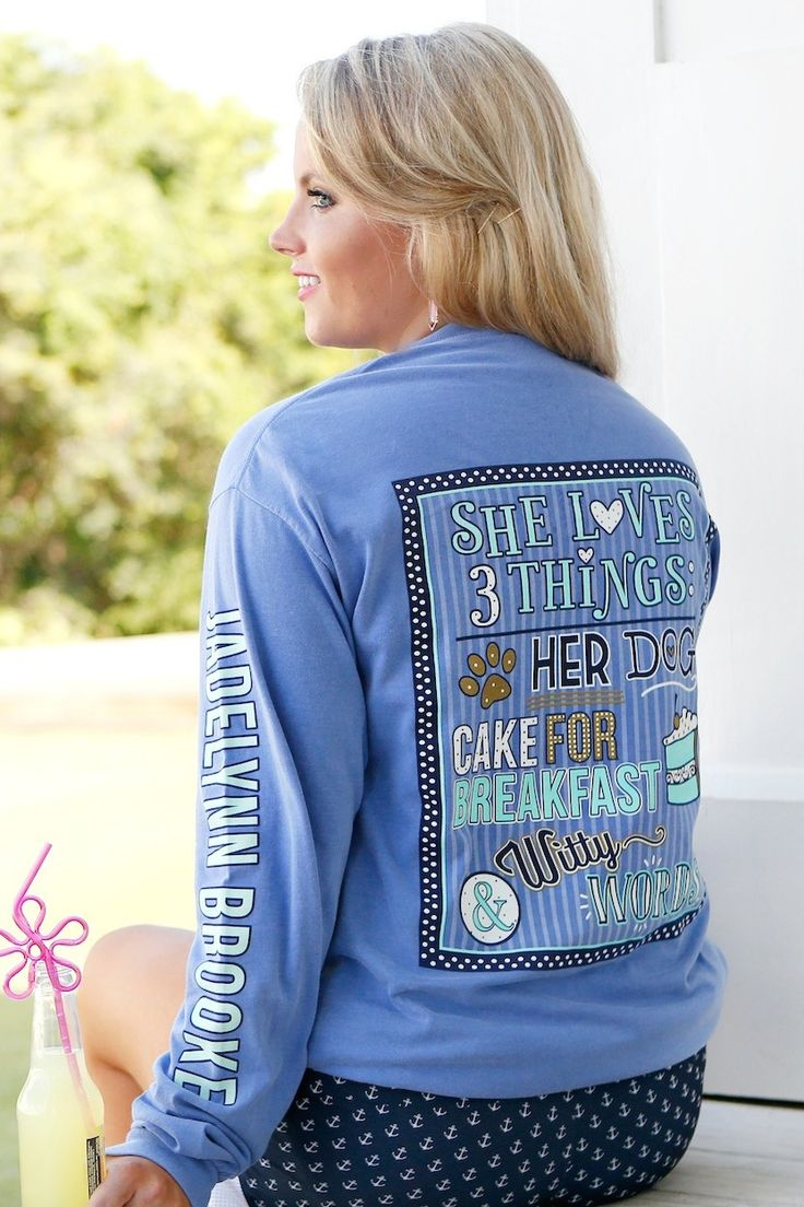 jewelry websites She Loves 3 Things  Blue   Long Sleeve