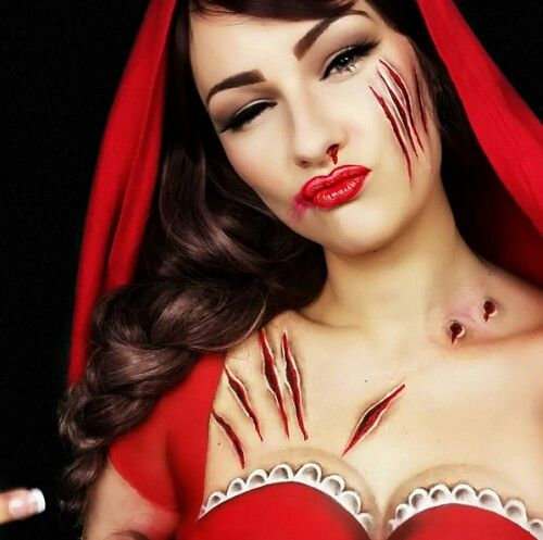 Cappuccetto rosso halloween make up