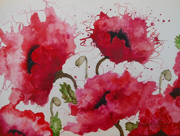 Party Poppies Painting