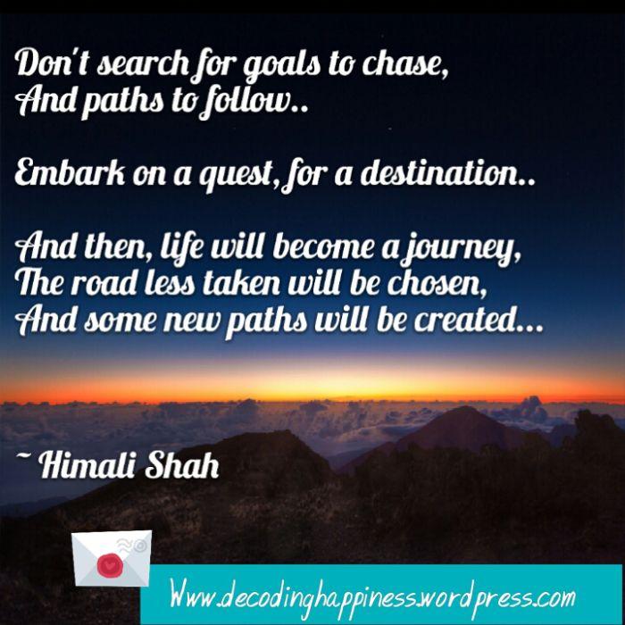 Goals and Destination