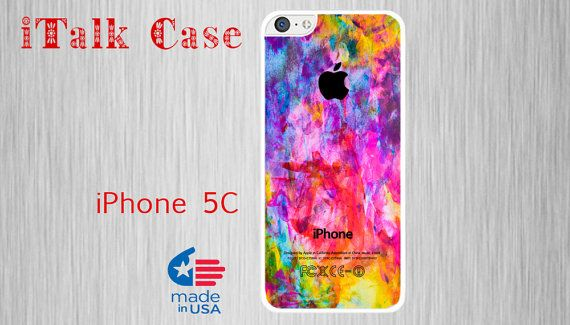 Colorful watercolor iPhone 5C case https://www.etsy.com/es/listing/194276708/iphone-5c-iphone-5c-case-iphone-5c