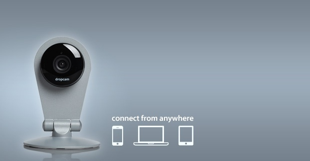 "Dropcam - new $149 wifi monitoring camera.  ""Plug it in. Select your Wi-Fi network. Name your camera. And that's it."""