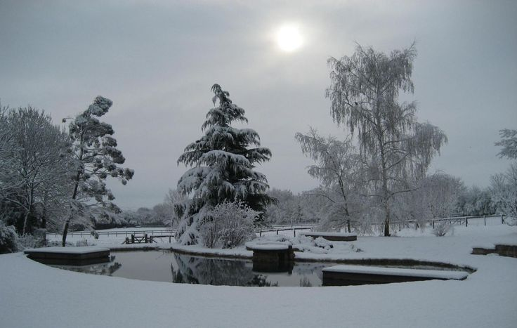 A Snowy Natural Pool During Winter   Natural Swimming Pools