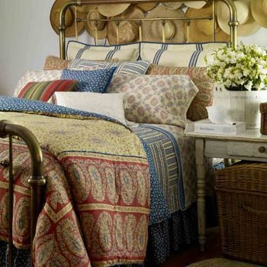 CHAPS by Ralph Lauren MONTAUK 4pc Comforter Set FULL Size