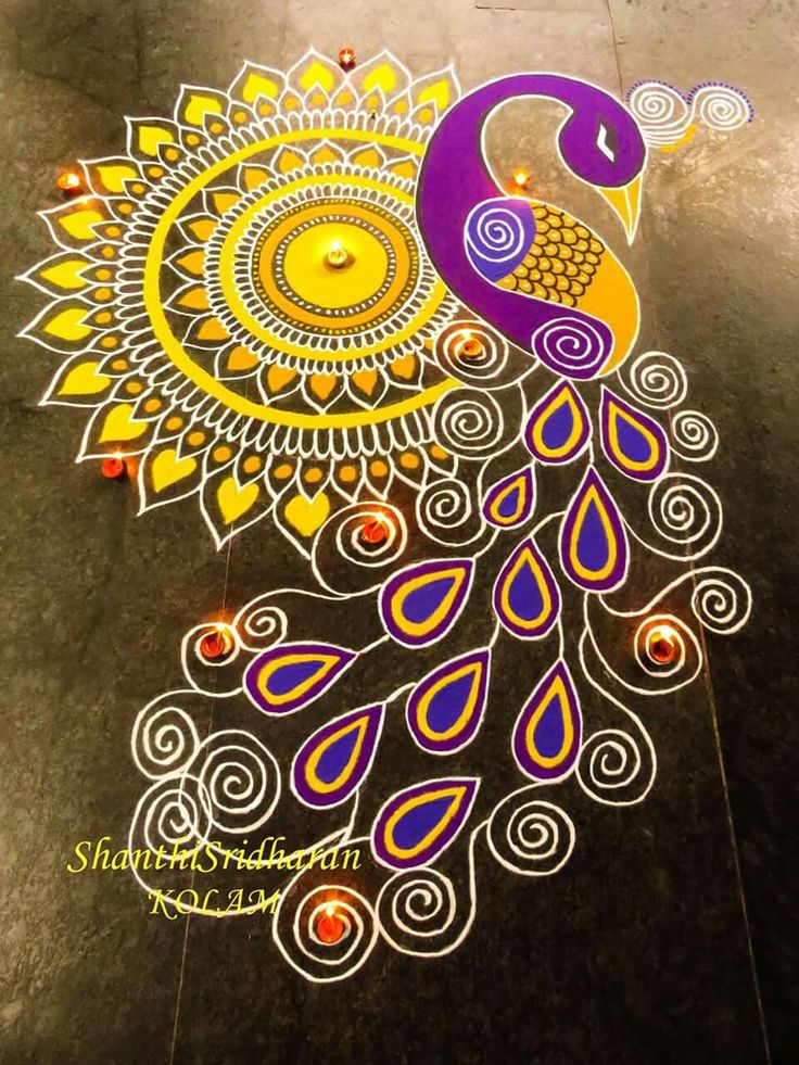 Only the mandala with paints