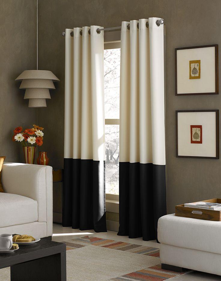Kendall Color Block Grommet Curtain Panel Living Room Ideas Pinterest
