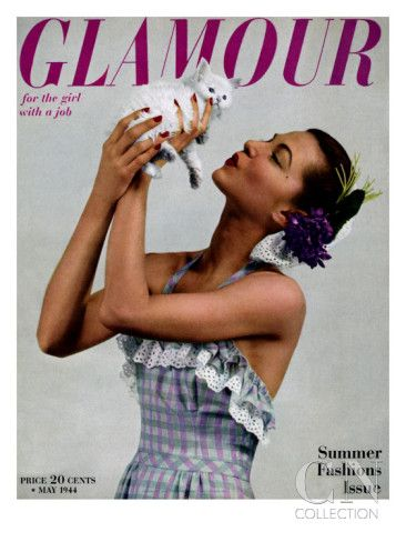 Glamour Cover - May 1944 Poster Print by Gjon Mili at the Condé Nast Collection