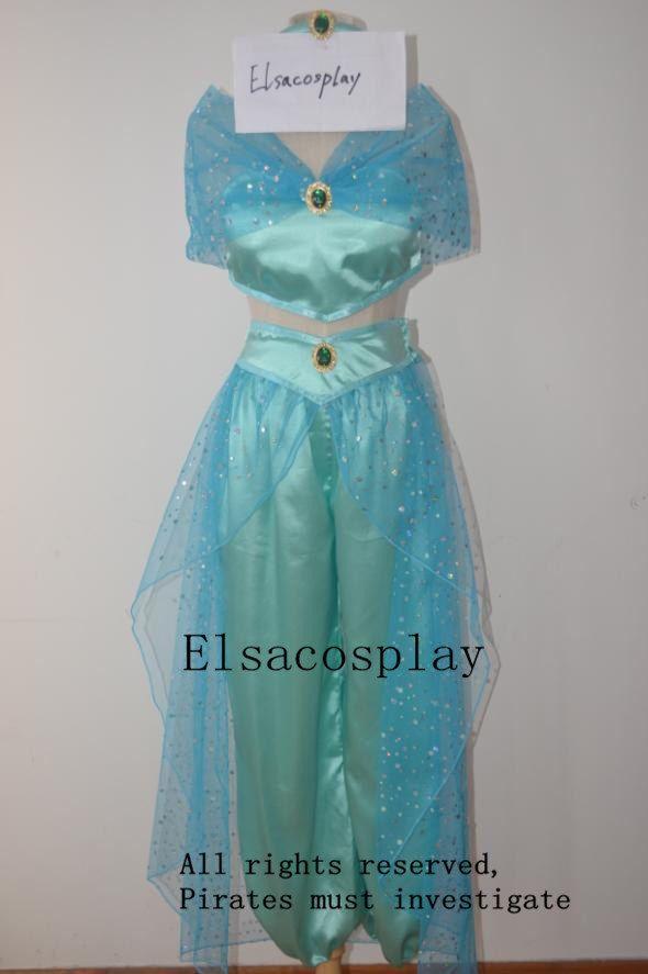 Deluxe Style - Princess Jasmine Costume, Jasmine Costume, Jasmine Cosplay Costume by Elsacosplay on Etsy https://www.etsy.com/listing/236673752/deluxe-style-princess-jasmine-costume