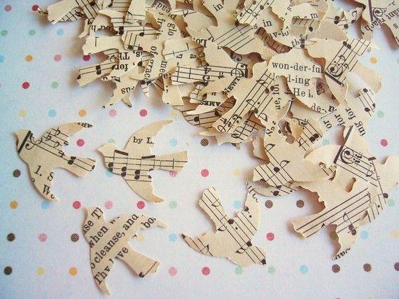 Vintage Love Bird Confetti.  via Etsy.