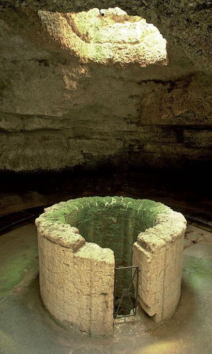 Fonte Pliniano, antico pozzo d'età messapica,  Manduria, Puglia, Italy