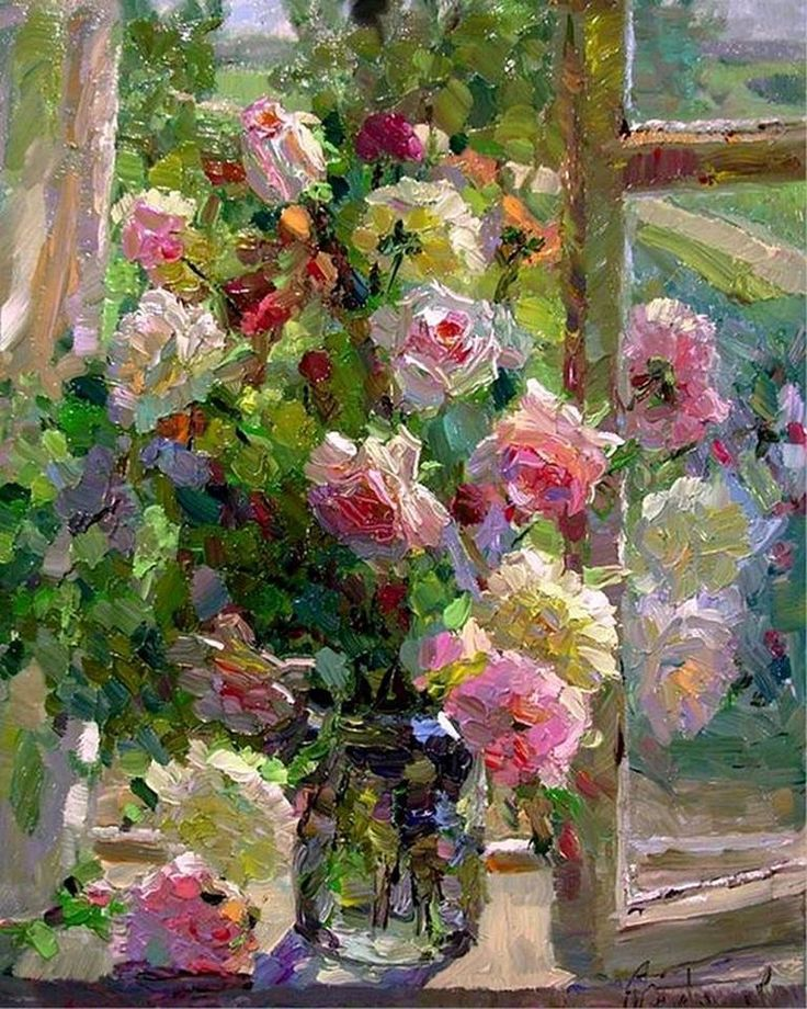 1000 images about still life art on pinterest fine art for How to oil paint flowers