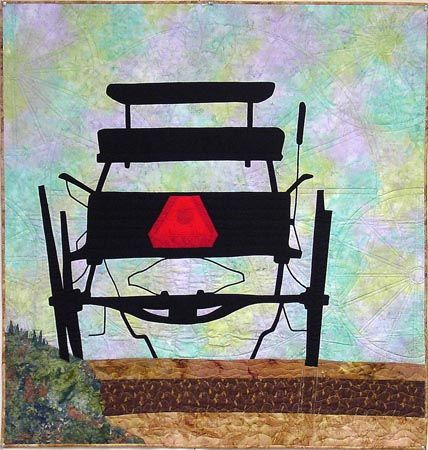 Sillouette by Jane Blair - love the quilting in the background that replicates the wagon wheel. Oh sweet quilt!