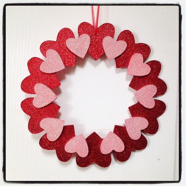 SnapWidget | Finally hanging some Valentine's Day decorations. #love #hearts #glitter #valentines
