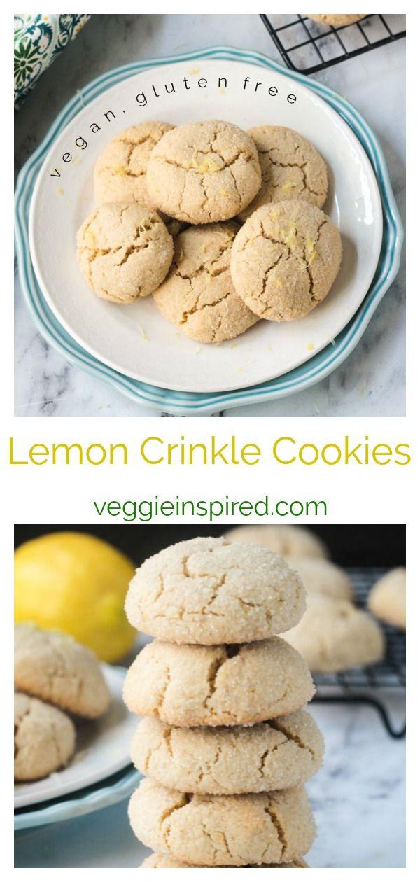 Lemon Crinkle Cookies Vegan Gluten Free