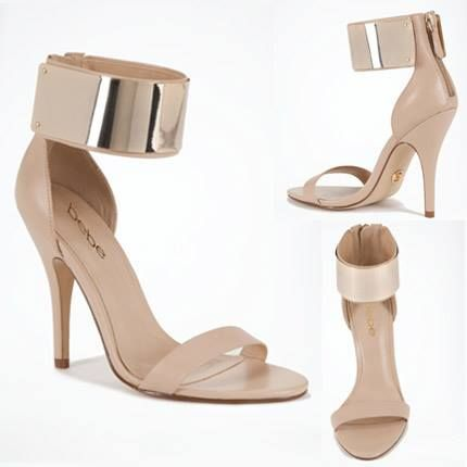 These amazing Bebe shoes I had to have in Black and Nude. <3 them!