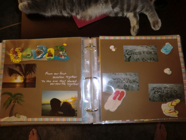 ... husband a scrapbook of all of our firsts...First kiss, First date