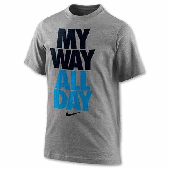 "Youth BOYS Nike shirt Nike shirt for boys that reads ""My Way All Day"" Nike Tops Tees - Short Sleeve"