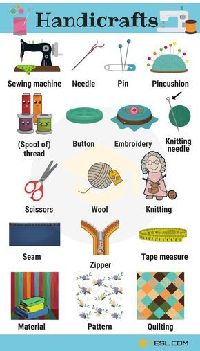Learn Handicraft Vocabulary With Pictures Vocab With Pictures
