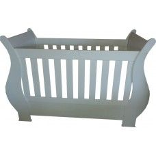 The Sleigh Cot - the perfect cot that can go from your average cot into a daybed! so creative