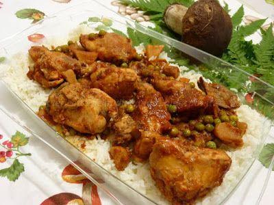 Le    ricette    di    Claudia  &   Andre : Coniglio pomodoroso con funghi porcini, pisellini ...