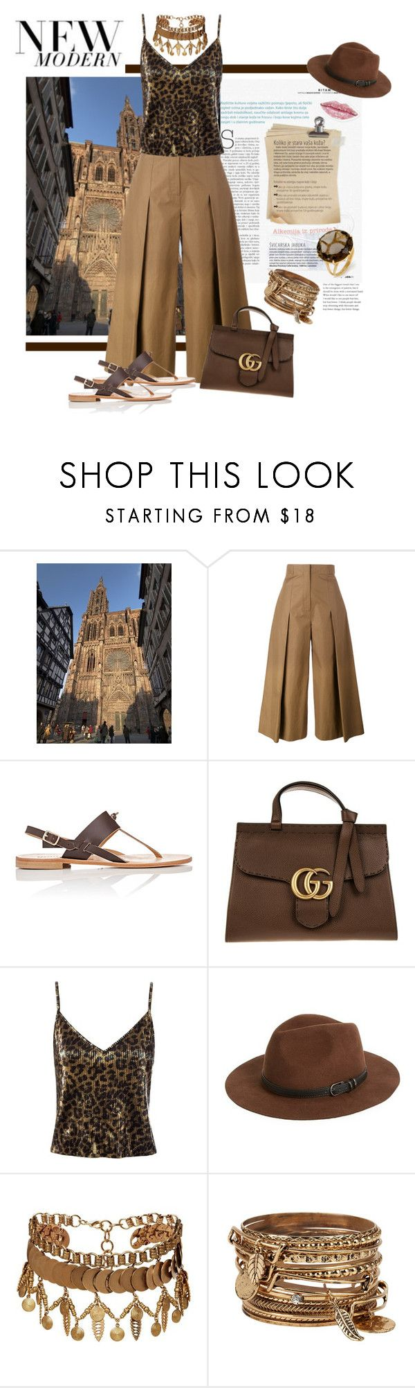 """""""Untitled #346"""" by riuk ❤ liked on Polyvore featuring Fendi, Barneys New York, Gucci, Sans Souci, Sole Society, Elizabeth Cole and ALDO"""