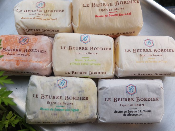 beurre bordier.... yummmm best of the best (flavored butters) get them if you can!