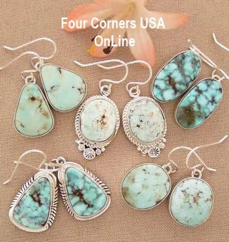 Four Corners USA OnLine Dry Creek Turquoise Earrings Collections Native American Indian Jewelry