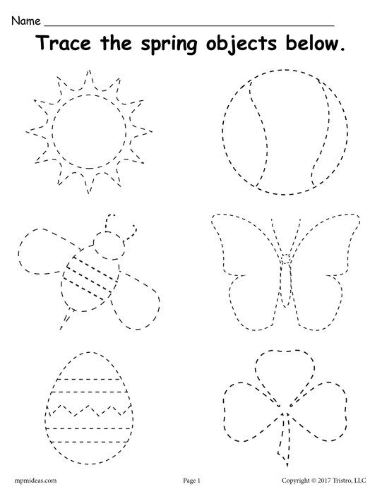 Printable Spring Themed Tracing Worksheet
