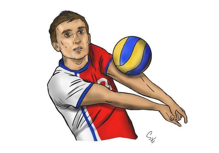 Patryk Buchowski caricature (photo: Lukasz Stanek) #volleyball #caricature #art