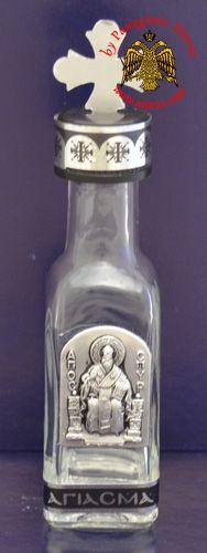 Holy Oil & Water Bottle Clear Glass C Spyridon