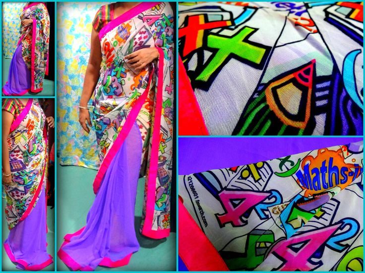 Digital print chiffon saree...