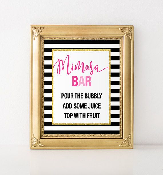 Kate Spade Inspired Mimosa Bar Bridal Shower by BashandCoParty