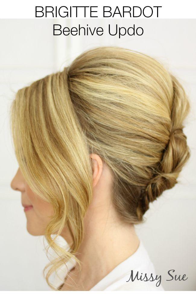Brigitte Bardot Beehive Updo - Missy Sue - Hair Tutorials