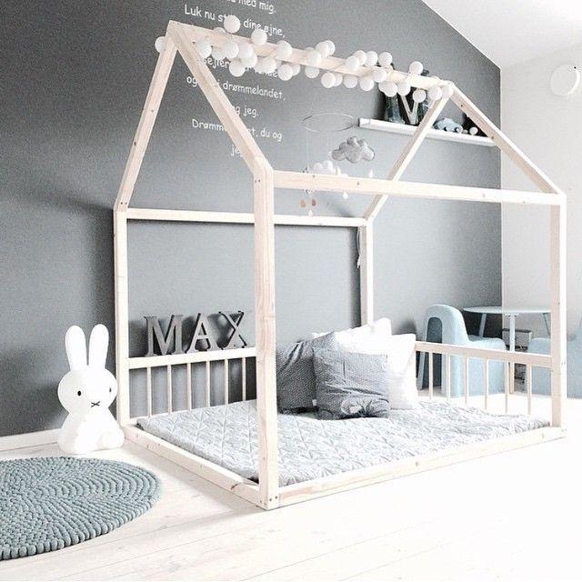 Minimal grey room for boy or girl