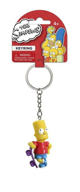 The Simpsons Bart Skateboard Figural Keychain