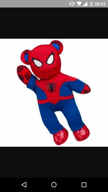 Spiderman build a bear
