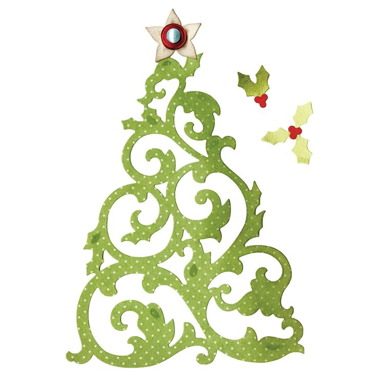 Sizzix Thinlits Die Set 5pk CHRISTMAS TREE SZ-659002 $20